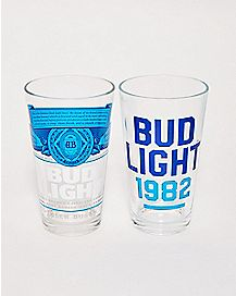 Bud Light Pint Glasses 2 Pack - 16 oz.