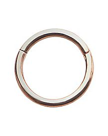 Rose Goldplated Seamless Ring - 16 Gauge