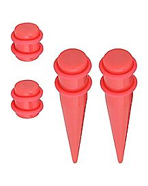 Red Plugs and Tapers - 2 Pair