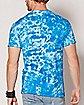 Mushroom Tie Dye Smurf T Shirt