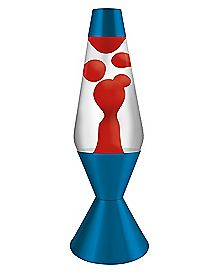 Blue and Red Lava Lamp - 16.3 Inch