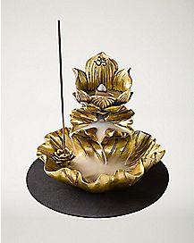 Lotus Flower Incense Burner and T Light Holder