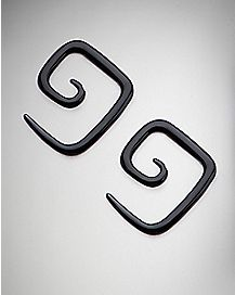 Black Square Spiral Plugs