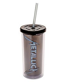 Metallica Cup With Straw 20 oz. - The Master Collection