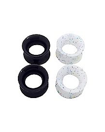 Black and White Plugs - 2 Pair