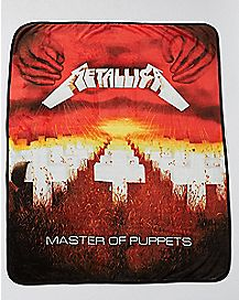 Master Of Puppets Metallica Fleece Blanket - The Master Collection