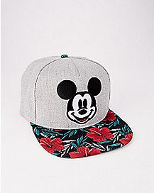 Floral Mickey Mouse Snapback Hat - Disney