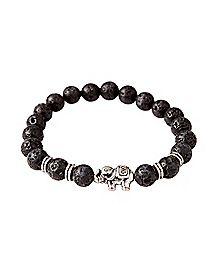 Lava Bead Elephant Bracelet