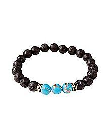 Lava Bead Turquoise Bracelet