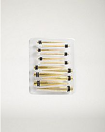 Anodized Stretching Taper Kit 6 Pair – 14-4 Gauge