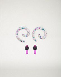 Spiral Ear Tapers and Plugs Set - 2 Pair
