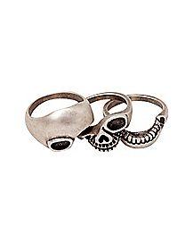 Stacked Skull Ring
