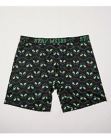 Stay Weird Alien Boxer Briefs