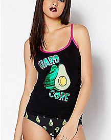 Hard Core Avocado Tank and Panties Set