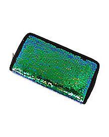 Mermaid Sequin Zip Wallet