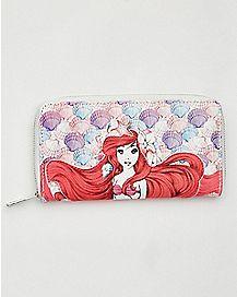 Shells Ariel Zip Wallet - The Little Mermaid