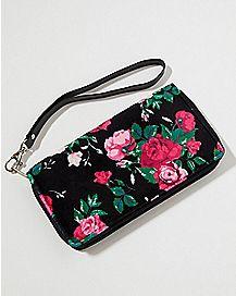 Velvet Floral Wallet