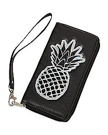 Iridescent Pineapple Zip Wallet