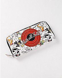 That's All Folks Zip Wallet - Looney Tunes
