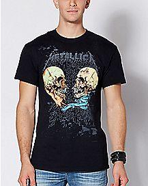 Skull Sad But True Metallica T Shirt