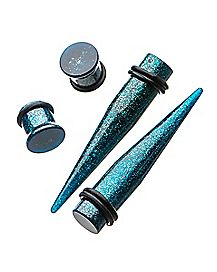 Glitter Tapers and Plugs - 2 Pair