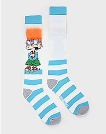 3D Chuckie Finster Crew Socks - Rugrats