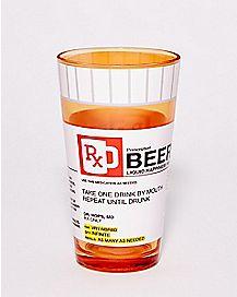 Beer Prescription Pint Glass - 16 oz.