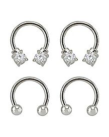 Multi-Pack Horseshoe Rings 2 Pair - 16 Gauge