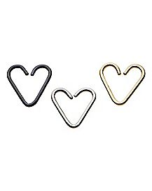 Heart Seamless Rings - 16 Gauge