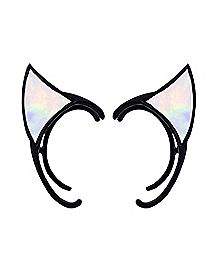 Rainbow Cat Ear Ear Cuffs - 1 Pair