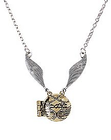 Golden Snitch Locket Necklace - Harry Potter