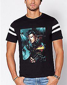 Varsity Superman T Shirt - DC Comics