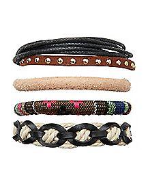 Threaded Rope Bracelet - 5 Pack