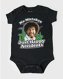 Happy Accidents Bob Ross Baby Bodysuit