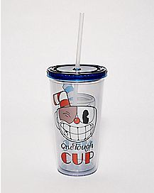 Cuphead And Mugman Cup With Straw - 20 oz.