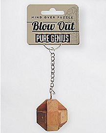 Blow Out Puzzle Keychain