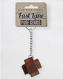 Fast Lane Puzzle Keychain