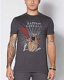 Captain Caveman T Shirt - Captain Caveman and the Teen Angels