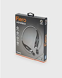 Black Fiero Bluetooth Wireless Neckband Earbuds - POM Gear