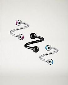 Spiral Barbells 3 Pack - 16 Gauge