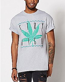 Pot Leaf Stay High T Shirt