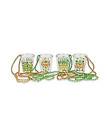 St. Patrick's Day Shot Glass Necklaces - 4 Pack