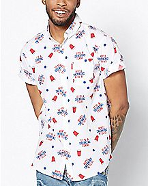 USA Drinking Team Button Down Shirt