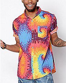 Tie Dye Button Down Shirt
