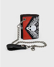 Winged Skull Chain Wallet
