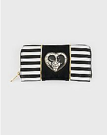 Striped Jack and Sally Zipper Wallet - The Nightmare Before Christmas