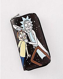Rick and Morty Zipper Wallet