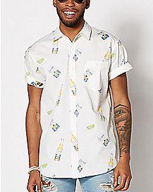 Corona and Lime Button Down Shirt