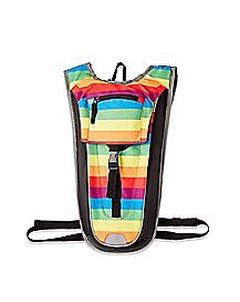 Rainbow Stripe Hydration Backpack