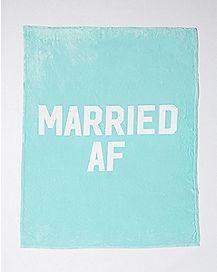 Married AF Fleece Blanket